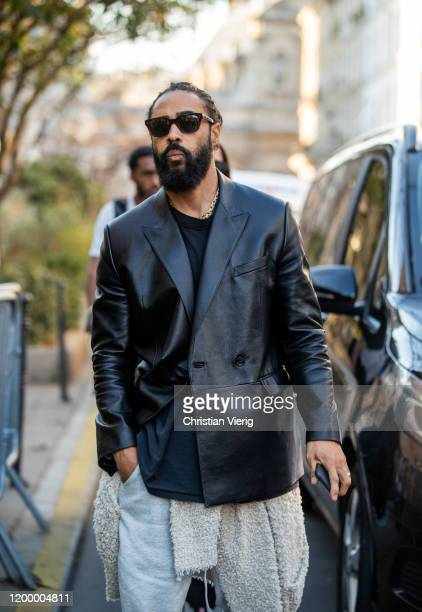 Jerry Lorenzo is seen outside Heron Preston during Paris Fashion Week Menswear F/W 20202021 on January 16 2020 in Paris France