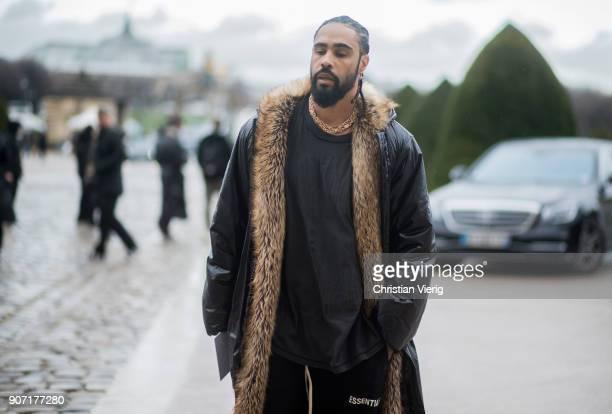Jerry Lorenzo is seen outside Maison Margiela on January 19 2018 in Paris France