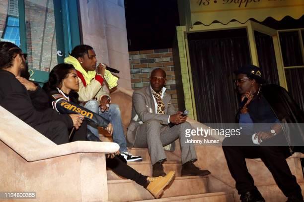 Jerry Lorenzo Teyana Taylor A$AP Rocky Dapper Dan and Fab 5 Freddy speak onstage at Stoop Talks with A$AP Rocky Dapper Dan at Terminal 5 on February...