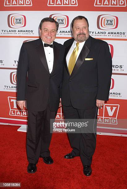 Jerry Mathers and Frank Bank during 4th Annual TV Land Awards Arrivals at Barker Hangar in Santa Monica California United States