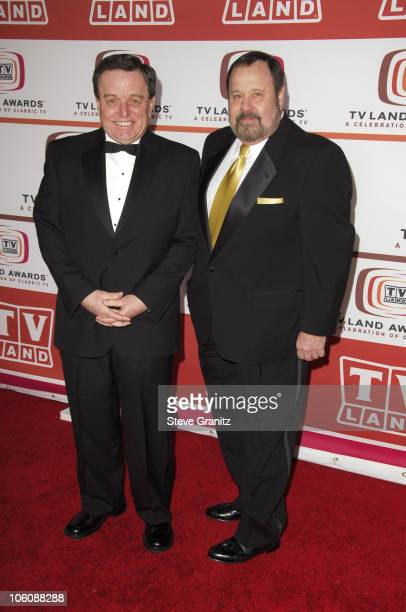 Jerry Mathers and guest during 4th Annual TV Land Awards Arrivals at Barker Hangar in Santa Monica California United States