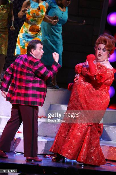"""Jerry Mathers, left, and Paul Vogt as """"Edna Turnblad"""" during Lance Bass' opening night performance in """"Hairspray"""" on Broadway August 16, 2007 at The..."""