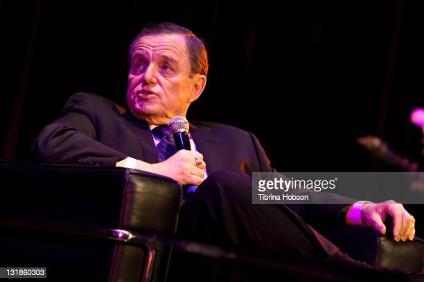 Jerry Mathers speaks at the USC and Blakely Legal Group TV 101 Celebrity Discussion Panel at USC on March 30 2011 in Los Angeles California