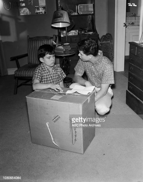 Jerry Mathers Tony Dow appearing on 'Leave it to Beaver' 'Beaver's Accordion' December 24 1960