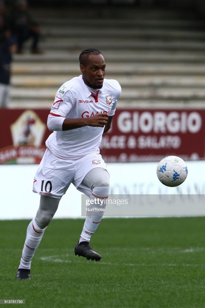 Jerry Mbakogu (FC Carpi) during Italy Serie B match between US Salernitana and Carpi FC at Stadium Arechi in Salerno, Italy, on 2 February 2018.