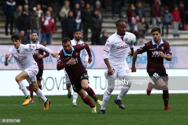 Jerry Mbakogu during Italy Serie B match between US Salernitana and Carpi FC at Stadium Arechi in Salerno Italy on 2 February 2018
