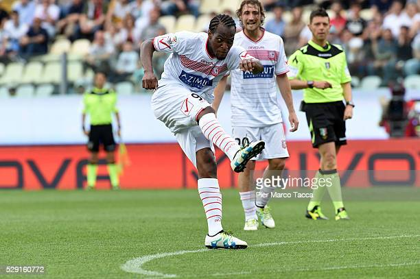 Jerry Mbakogu in action during the Serie A match between Carpi FC and SS Lazio at Alberto Braglia Stadium on May 8 2016 in Modena Italy