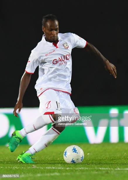 Jerry Mbakogu of FC Carpi in action during the Serie B match between FC Carpi and US Citta di Palermo on October 24 2017 in Carpi Italy