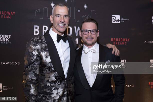 Jerry Mitchell and Adam Sansiveri attend the 10th Annual Broadway Dreams Supper at The Plaza Hotel on December 12 2017 in New York City