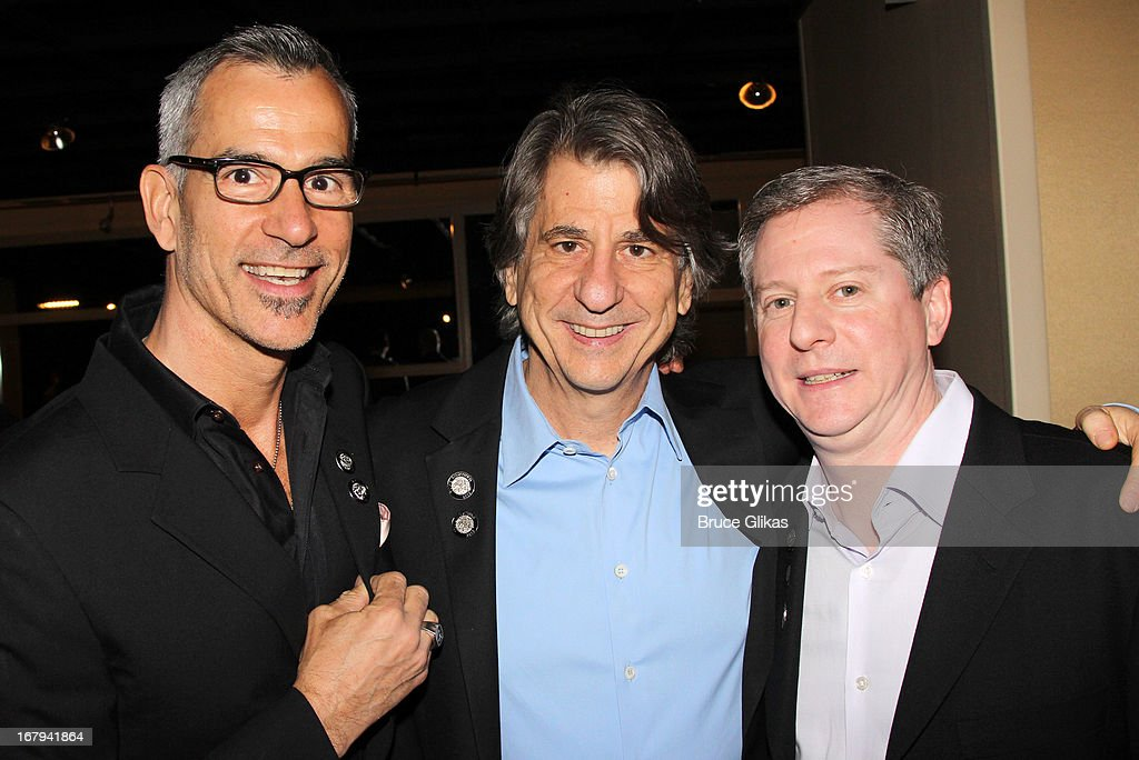 Jerry Mitchell, David Rockwell and Kenneth Posner attend the 2013 Tony Awards: The Meet The Nominees Press Junket at the Millenium Hilton on May 1, 2013 in New York City.