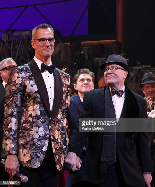 Jerry Mitchell & Jack O'Brien during the Broadway Opening Night Curtain Call for 'Catch Me If You Can' in New York City.