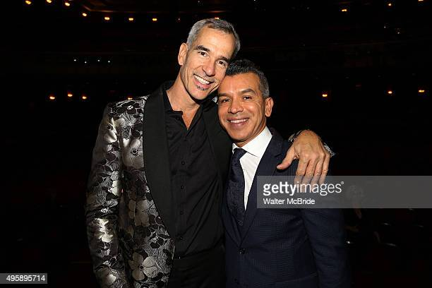 Jerry Mitchella and Sergio Trujillo during the Broadway Opening Night Performance Actors' Equity Gypsy Robe Ceremony honoring Nina Lafarga for 'On...