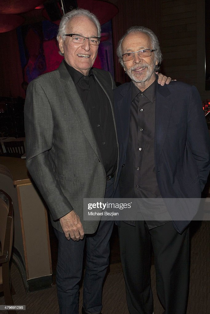 Jerry Moss and Trumpeter Herb Alpert at Herb Alpert And Lani Hall Performance At Vibrato Grill at Vibrato Grill Jazz on March 19, 2014 in Beverly Hills, California.