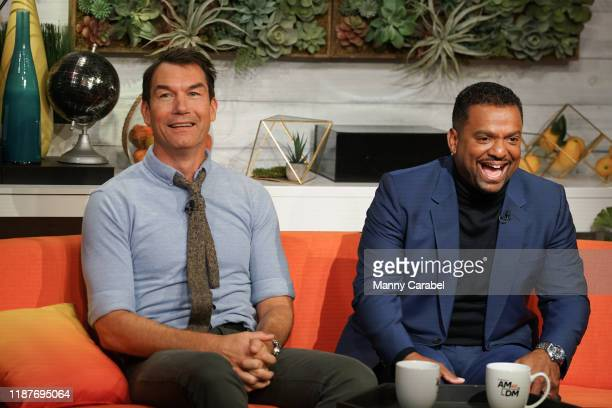 """Jerry O'Connell and Alfonso Rib visits BuzzFeed's """"AM To DM"""" to discuss 'Love at First Bite' on November 14, 2019 in New York City."""