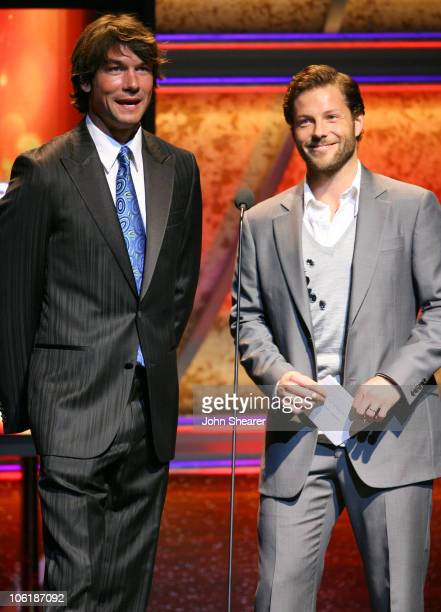 Jerry O'Connell and Jamie Bamber during 18th Annual GLAAD Media Awards Los Angeles Show at Kodak Theater in Los Angeles California United States