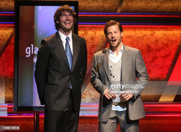 Jerry O'Connell and Jamie Bamber during 18th Annual GLAAD Media Awards Show at Kodak Theatre in Hollywood California United States