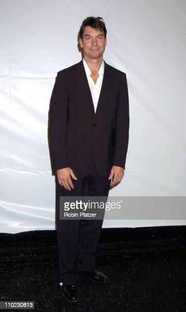 Jerry O'Connell during Olympus Fashion Week Fall 2005 Perry Ellis Menswear Fashion Show at Bryant Park in New York City New York United States