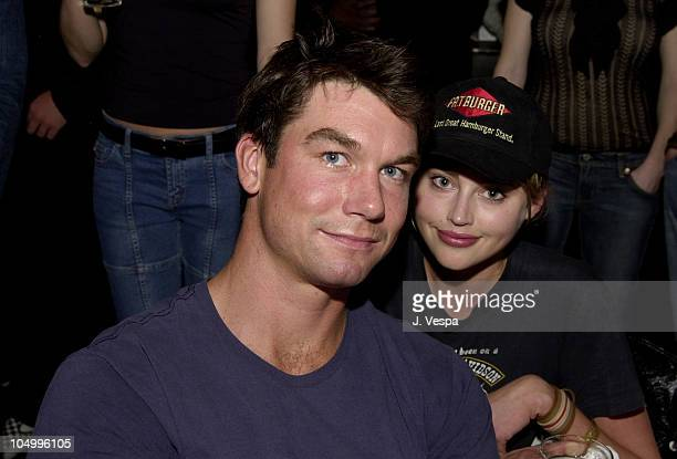 Jerry O'Connell Estella Warren during GQ Lounge Karaoke Night at GQ Lounge in Los Angeles California United States