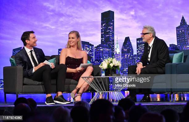 Jerry O'Connell Rebecca Romijn and Patrick McDonnell speak onstage at the Humane Society Of The United States To The Rescue New York Gala 2019 at...