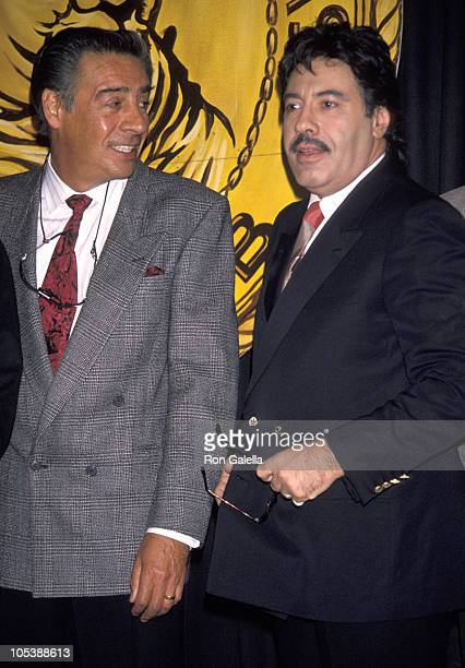 Jerry Orbach and Tony Orlando during New York Friars Club Roasts Chevy Chase at Sheraton Center in New York City New York United States
