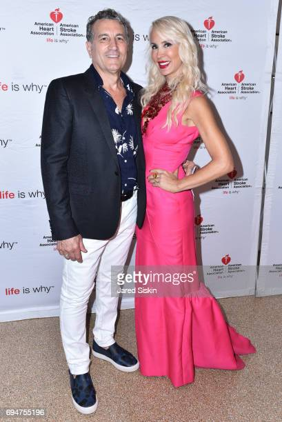 Jerry Purco and Tracy Stern attend the 21st Annual Hamptons Heart Ball at Southampton Arts Center on June 10 2017 in Southampton New York
