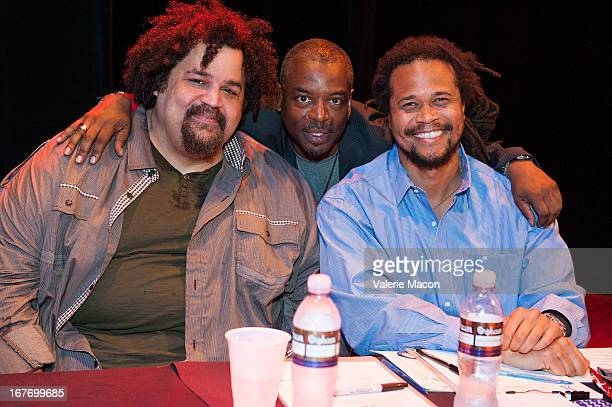 Jerry Quickley LeVar Burton and Seith Mann attend Get Lit Presents The 2nd Annual Classic Slam at Orpheum Theatre on April 27 2013 in Los Angeles...