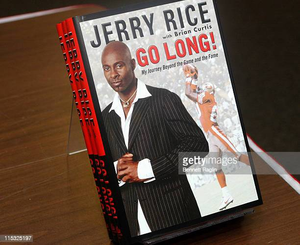 Jerry Rice during Former NFL Star Jerry Rice Signs His Book 'Go Long' at Borders Books Music in New York City January 16 2007 at Borders Books Music...