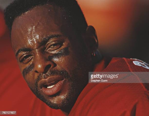 Jerry Rice Wide Receiver for the San Francisco 49ers during the National Football Conference West game against the Arizona Cardinals on 1 November...