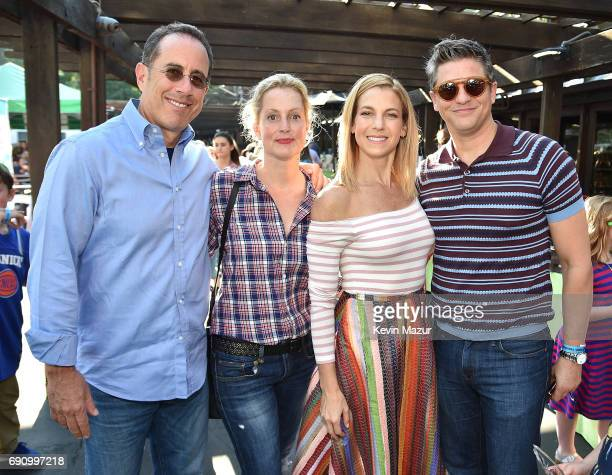 Jerry Seinfeld, Ali Wentworth, Jessica Seinfeld and David Burtka attend GOOD+ Foundation's 2017 NY Bash at Victorian Gardens in Central park on May...