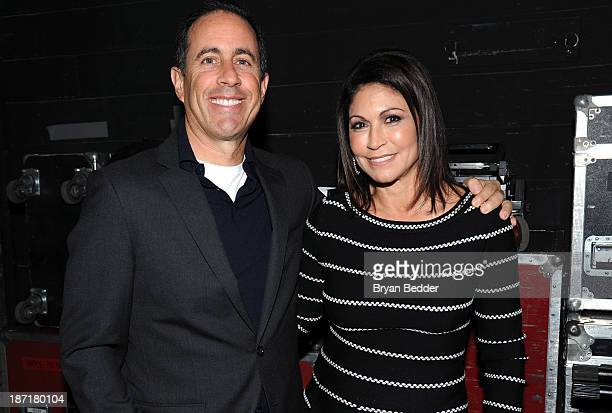 Jerry Seinfeld and Caroline Hirsch attend The New York Comedy Festival And The Bob Woodruff Foundation Present The 7th Annual Stand Up For Heroes...