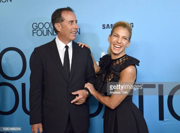 Jerry Seinfeld and Founder and President GOOD Foundation Jessica Seinfeld attend the 2018 GOOD Foundation's Evening of Comedy Music Benefit presented...