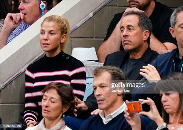 Jerry Seinfeld and Jessica Seinfeld at the 2018 US Open Men's Finals on September 9 2018 in New York City