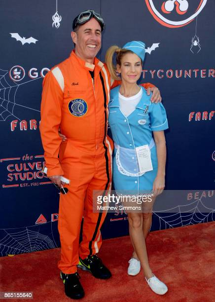 Jerry Seinfeld and Jessica Seinfeld at the GOOD Foundation's 2nd Annual Halloween Bash at Culver Studios on October 22 2017 in Culver City California