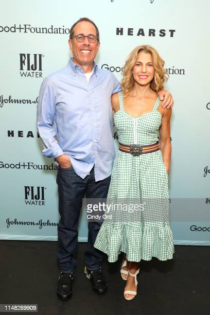 Jerry Seinfeld and Jessica Seinfeld attend GoodFoundation 2019 Bash presented by Hearst and Johnson Johnson with FIJI Water at Victorian Gardens in...