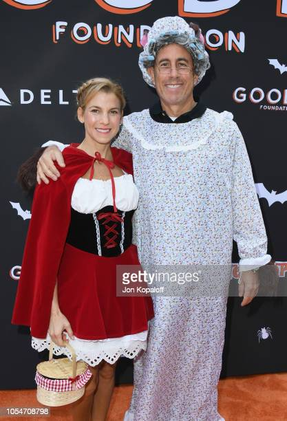 Jerry Seinfeld and Jessica Seinfeld attend Jessica and Jerry Seinfeld's GOOD Halloween Bash at Sony Pictures Studios on October 28 2018 in Culver...