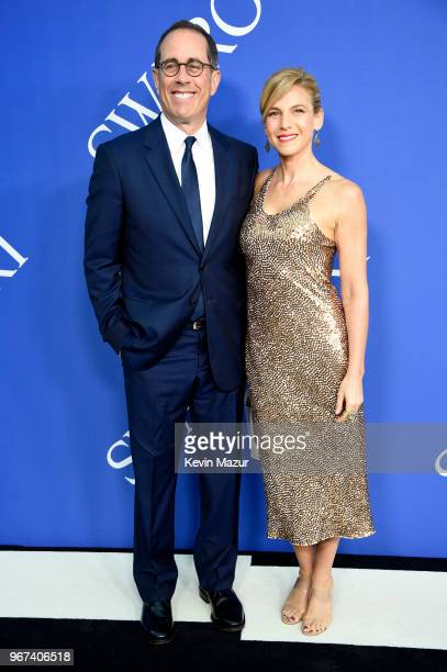 Jerry Seinfeld and Jessica Seinfeld attend the 2018 CFDA Fashion Awards at Brooklyn Museum on June 4 2018 in New York City