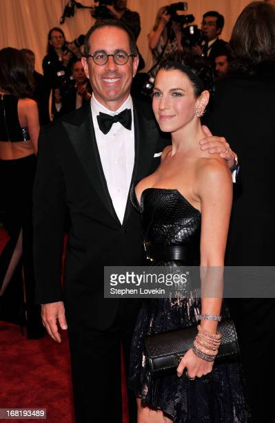Jerry Seinfeld and Jessica Seinfeld attend the Costume Institute Gala for the PUNK Chaos to Couture exhibition at the Metropolitan Museum of Art on...