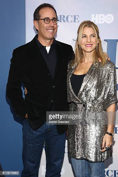 Jerry Seinfeld and Jessica Seinfeld attend the 'Divorce' New York Premiere at SVA Theater on October 4 2016 in New York City