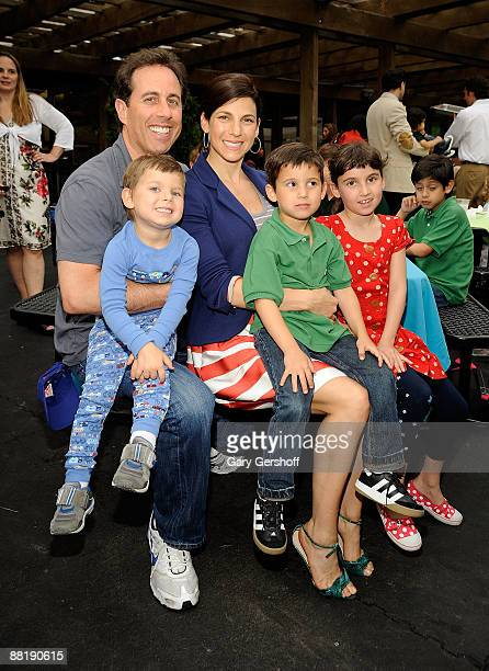 Jerry Seinfeld and Jessica Seinfeld with sons Shepherd and Julian and daughter Sascha attend the 3rd Annual Baby Buggy Bedtime Bash at Victorian...