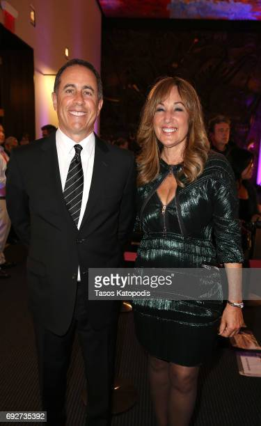 Jerry Seinfeld and Joanna Plafsky attend the National Night Of Laughter And Song event hosted by David Lynch Foundation at the John F Kennedy Center...