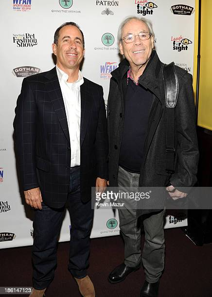 Jerry Seinfeld and Robert Klein attend the 8th Annual Laugh For Sight All-Star Comedy Benefit at Gotham Comedy Club on October 28, 2013 in New York...