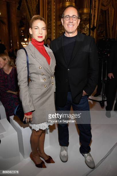 Jerry Seinfeld and wife Jessica attend the Stella McCartney show as part of the Paris Fashion Week Womenswear Spring/Summer 2018 on October 2 2017 in...