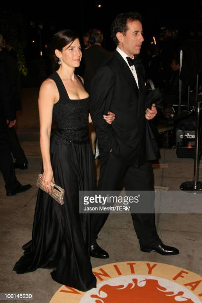 Jerry Seinfeld and wife Jessica during 2007 Vanity Fair Oscar Party Hosted by Graydon Carter at Mortons in West Hollywood California United States