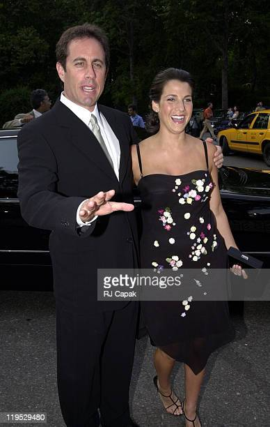 Jerry Seinfeld and wife Jessica during The Fresh Air Fund Salutes American Heroes at Tavern on the Green in New York City New York United States