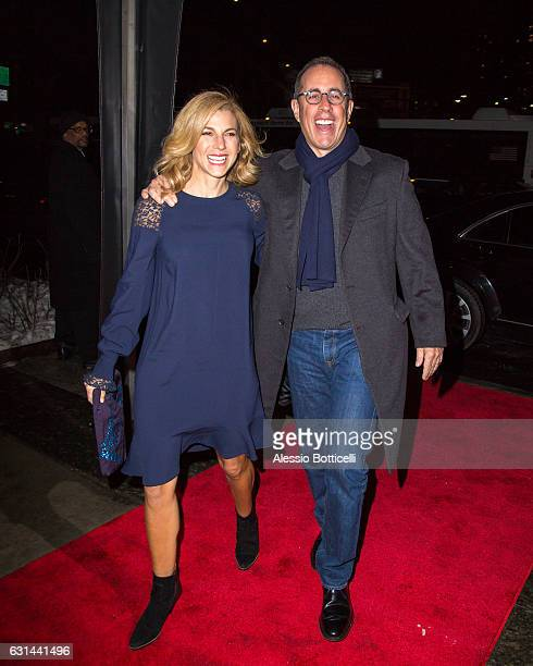 Jerry Seinfeld and wife Jessica Seinfeld are seen attending Stella McCartney Fall 2017 party on January 10 2017 in New York New York