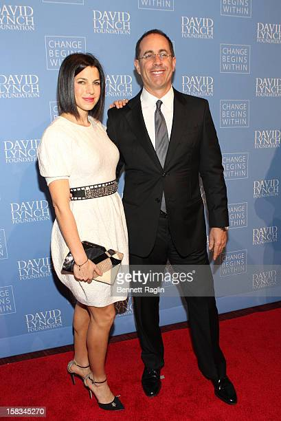 Jerry Seinfeld and wife Jessica Seinfeld attend the David Lynch Foundation hosts An Intimate Night Of Jazz at Frederick P Rose Hall Jazz at Lincoln...