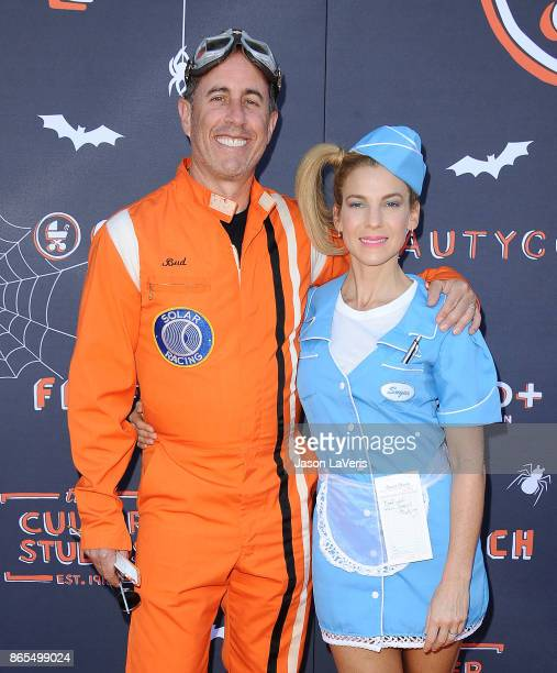 Jerry Seinfeld and wife Jessica Seinfeld attend the GOOD Foundation's 2nd annual Halloween Bash at Culver Studios on October 22 2017 in Culver City...