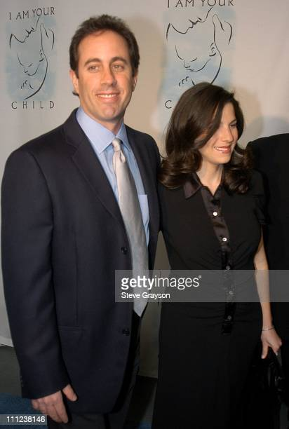 """Jerry Seinfeld and wife Jessica Seinfeld. During A Night of Comedy to Benefit """"I AM YOUR CHILD"""" Foundation at Hollywood & Highland in Los Angeles,..."""