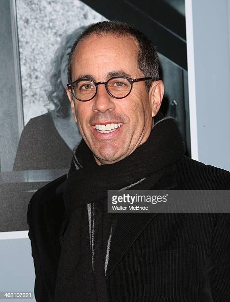 Jerry Seinfeld attends 'Beautiful The Carole King Musical' Broadway Opening Nigh at Stephen Sondheim Theatre on January 12 2014 in New York City