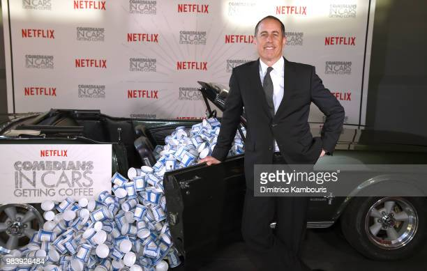 Jerry Seinfeld attends Comedians in Cars Getting Coffee New York Event at Classic Car Club Manhattan on June 25 2018 in New York City